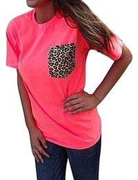 FUNOC Ladies Women Loose Leopard Printing Chiffon Casual Tops T Shirt Blouse