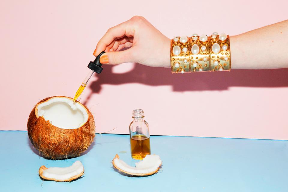 "For all over: Skinny & Co is the first truly raw coconut oil in the world and is radically different because of its production temperature. Their patented Nutralock System maintains the coconut oil under 100ºF, from start to finish. They're the only brand that personally sources 100% of their coconut oil. The coconuts are wild-harvested in Vietnam and are cold processed, not just cold pressed, and are never heated in order to preserve the nutrient content that's so good for your skin.   The Skinny Raw Beauty Coconut Oil is 100% hypoallergenic and noncomedogenic, so it leave your skin flawlessly smooth without clogging your pores.  For your face: Tilk!'s Scrub Me is a facial scrub filled with fresh and rich bioactive ingredients for your skin. With coconut oil and apricot kernel powder, Scrub Me renews skin cells and moisturizes your skin deeply. Light natural ingredients improve the health of your skin by detoxing and deep pore cleansing. Its amazing effect is coming from castor oil, coconut oil and bioactive complexes of calendula, horsetail and alchemilla. This tangerine delight is suitable for all skin types.  For your body: Nature Beauty Mix's Whipped Coconut Body Butter melts into your skin and soaks in to deliver nourishing ingredients like coconut oil and shea butter to your skin and provide deep hydration all over your body.     For your hair: Nourish and rejuvenate your hair with Lilly & Lola's Renew Your Hair. This coconut oil treatment is made with the highest quality, pure coconut oils that are designed to penetrate the hair with a silky, natural formula that fits into your daily routine. Recommended as an overnight treatment, Renew Your Hair revitalizes ends, hydrates your roots and scalp, smooths frizz, adds silk and shine, and detangles your locks for an intense hair renewal.  For your lips: Beautifuly Pure's Coconut and Grapefruit Lip Scrub is made with Organic Cane Sugar, Extra Virgin Coconut Oil, Sweet Almond Oil, and Jojoba Oil. This scrub will exfoliate your lips, leaving them soft and tasting sweet.  For your mouth: Skinny & Co combined their ultra-pure, chemical-free, ""cold-processed"" coconut oil and combined it with therapeutic grade peppermint oils to create their Oil Pulling Mouth Wash. The benefits? Whiter teeth, healthier gums, fresher breath, and a serious detox of toxins from teeth and mouth tissues. Your mouth will not be disappointed."