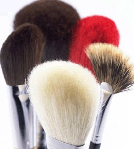 Makeup Brushes  Clean twice monthly '