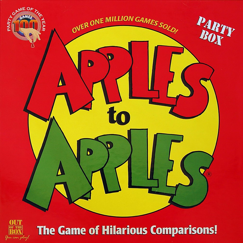 7.) Apples to apples, This game though, I love to play this game with my friends.