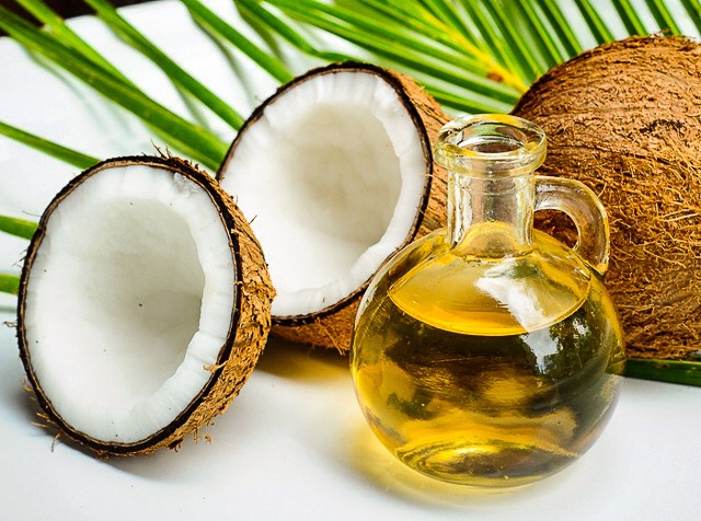 Coconut Oil ~coconut oil gives your hair a long, smooth, and silky feel and look ~rub about a quarter-sized dab in your hair, comb it through, and sit in the sun for a little to let it soak in