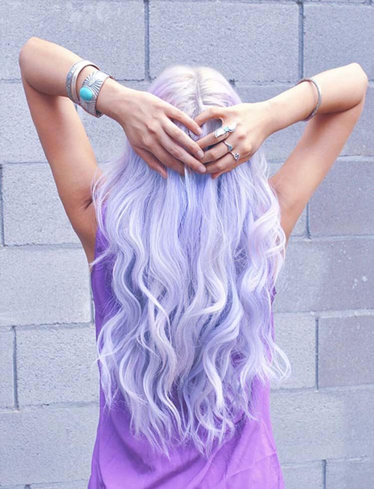 15. Dyed Lavender Hair Style