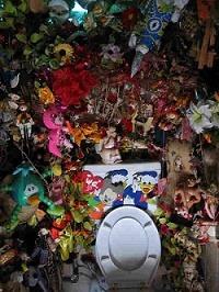 8. A Bathroom Full of Stuffed Toys