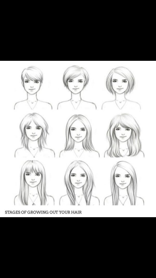 handy little style chart that you could show your hairdresser which one you would like ♡