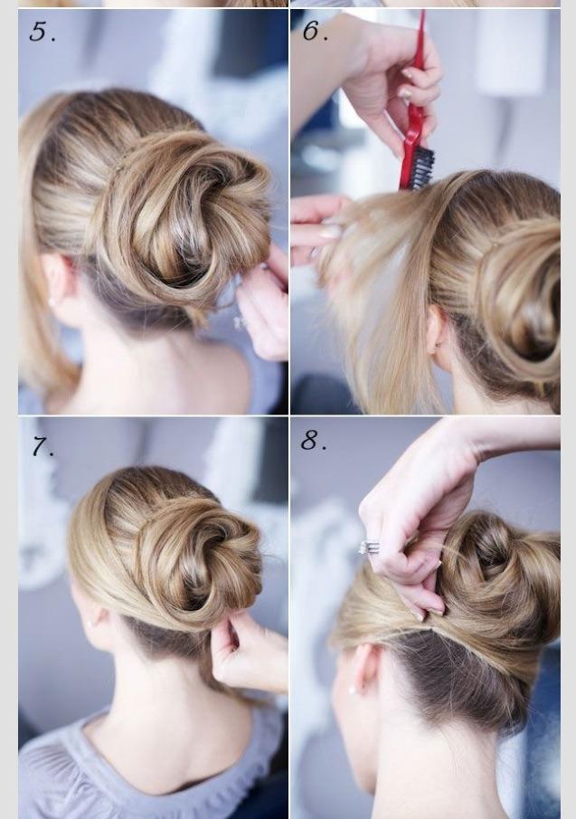 красивый пучок из волос пошаговая инструкция фото