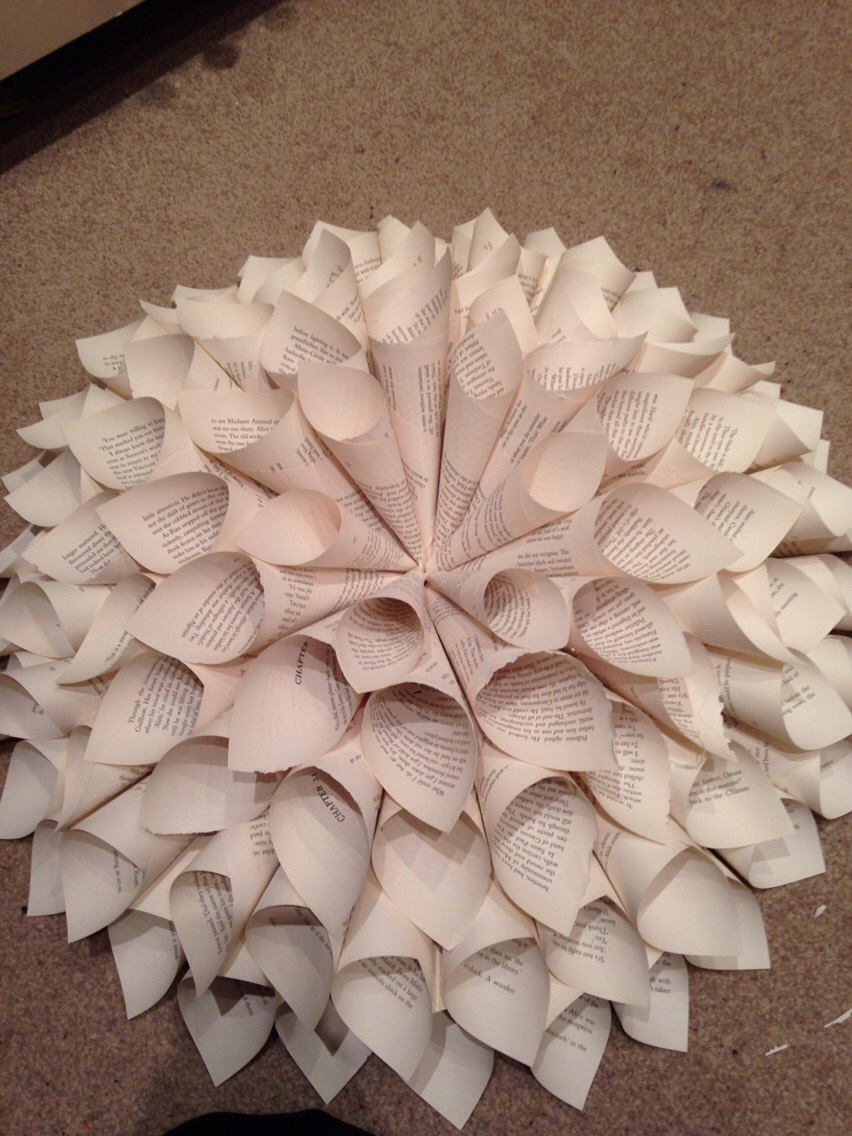 Or can leave them plain and add smaller cones to give that flower look x