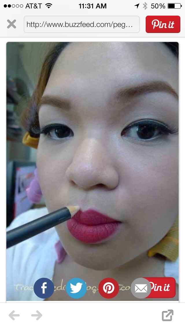 Use white liner to accentuate your Cupid's bow.