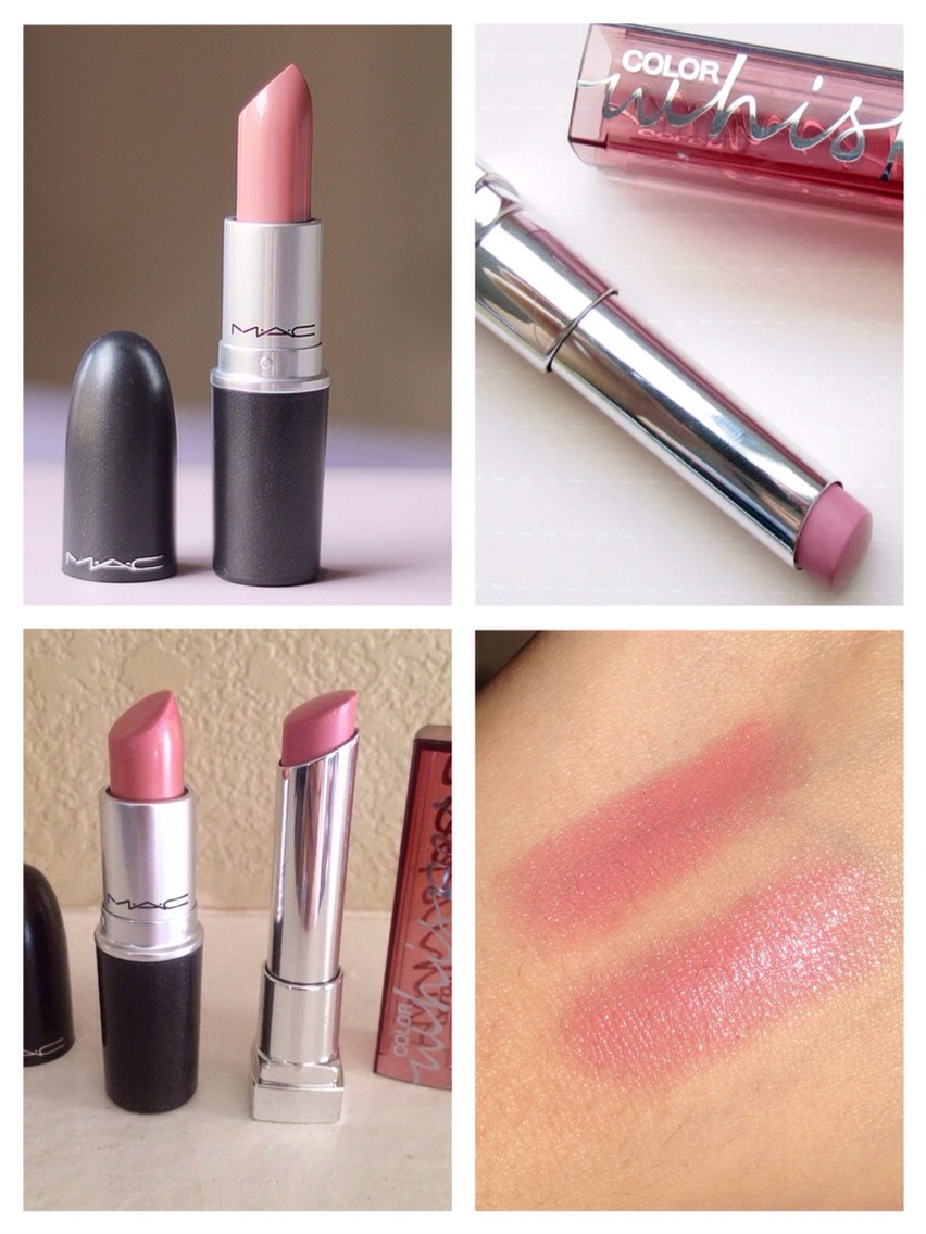 """MAC """"Creme Cup"""" vs. Maybelline Color Whisper """"Lust for Blush"""""""