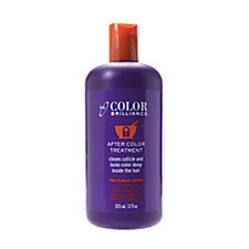 After rinsing out the dye leave ion colour brilliance after colour treatment for about 5 minutes, rinse out and style as usual. Replace your daily conditioner with the after colour treatment it smells amazing and closing the pores in your hair locking In The colour for a longer period of time.