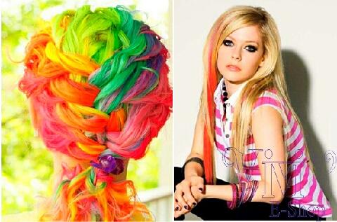 Rainbow hair is best kept UP🌈