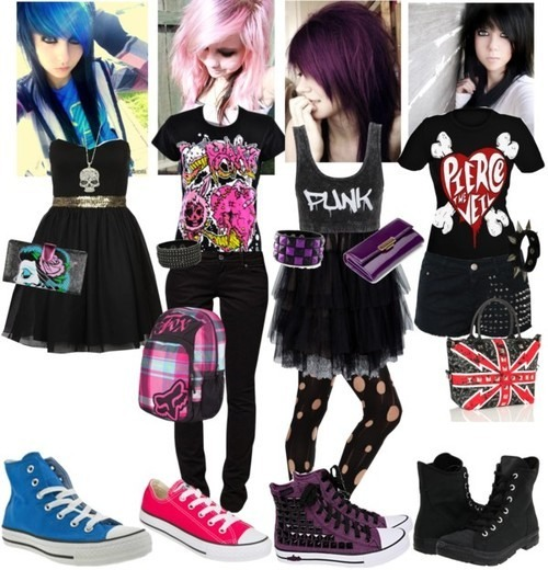 Scene outfits: need to be colorful and hyper and exciting