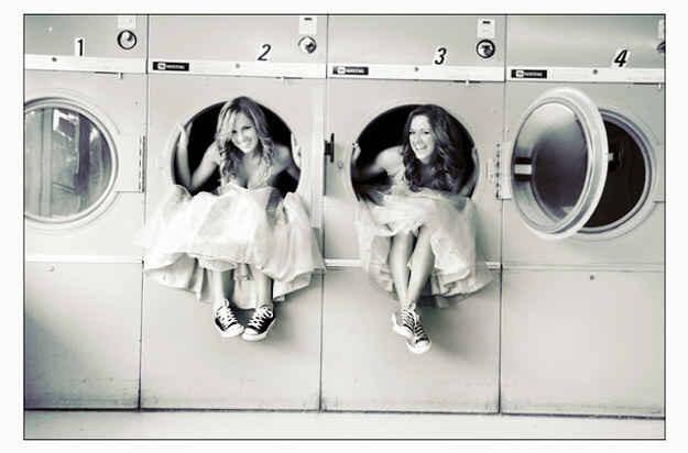 Some laundromat mischief