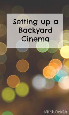 Create a backyard cinema