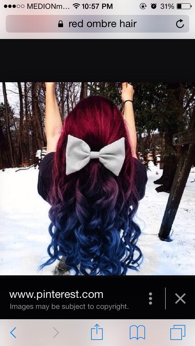Red to blue ombré