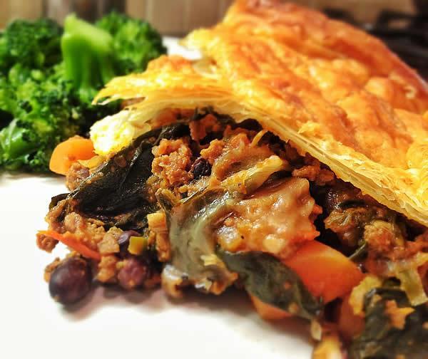 Chilli Con SPinach Pie - Vegan - Serves 4-6