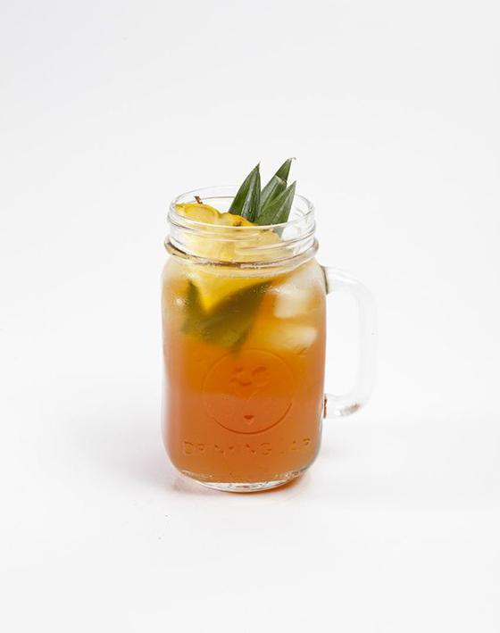 Owl's Pina  2 parts Owl's Brew Coco-Lada mix 1 part spiced rum Shake & pour over ice. Garnish with ginger.