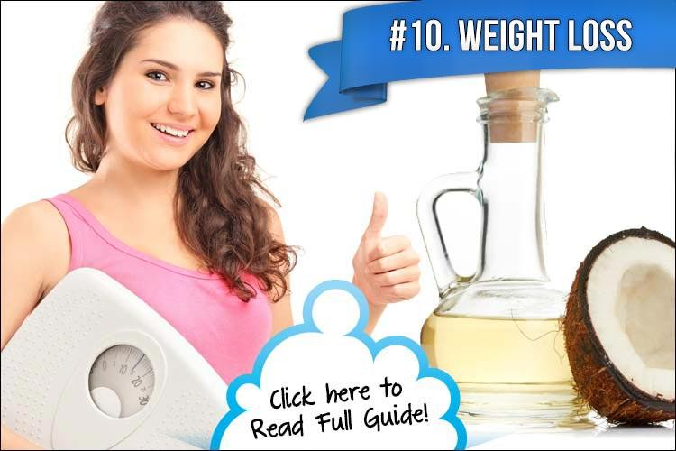 "10. Promotes Weight Loss  Coconut oil naturally reduces appetite, making you want to eat less without trying. It also helps to boost your metabolism and helps you to lose the more difficult ""bad"" body fat."