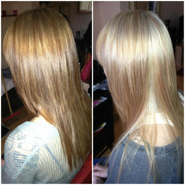 Just add lemon juice too your hair before going into the sun or outside