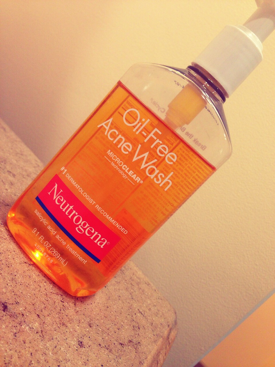 Oil- free acne wash The thing I like about this is that if you have extra make up on, it will remove it and not smudge. Feels good after your done washing you face too!