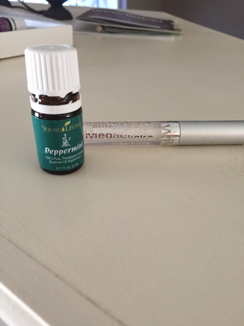 Peppermint oil in your lip gloss gives you lips a little boost. While adding a little plump to them it also helps freshen breath between brushes and  adds flavor.  Peppermint oil also helps headaches all you do it put a couple drops on your temples, neck, or the source of the pain.