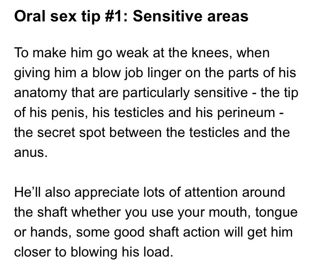 Tips on giving a good blow job