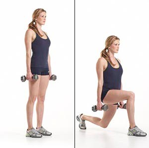 25 lunges per leg with weights
