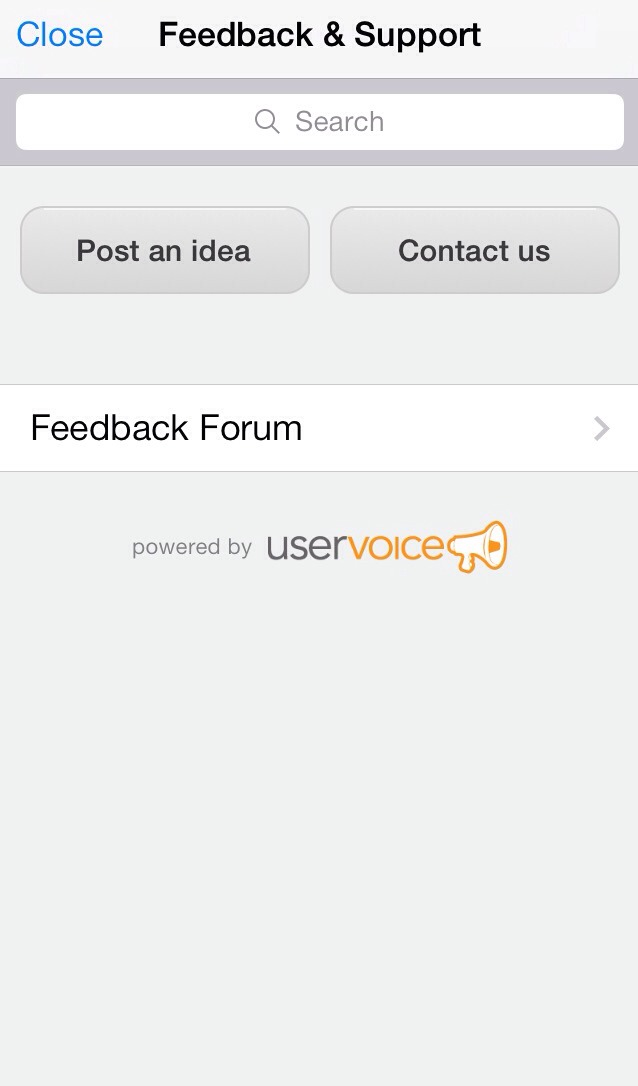 You can choose to post an idea or go to the feedback forum to vote on other suggestions that users have posted