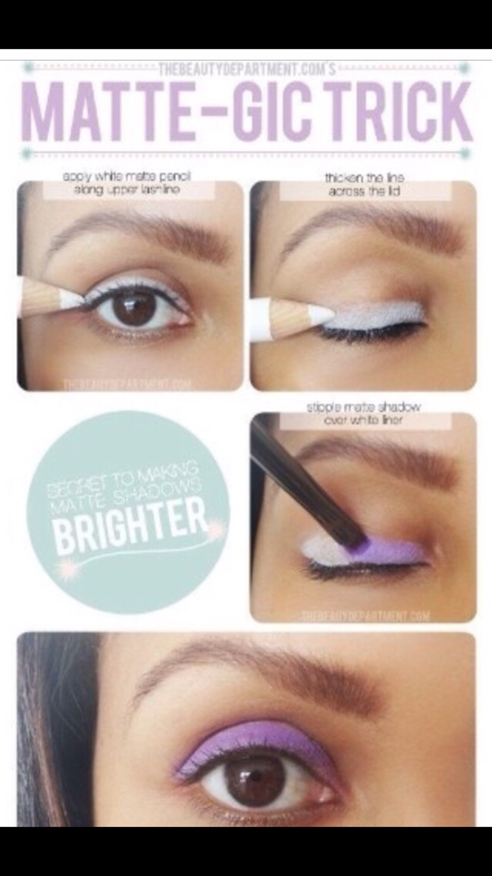 Is your makeup almost transparent? Or do you feel its too light and you want it to show more? Just apply white on the bottom and it will give you that bright look👀👍