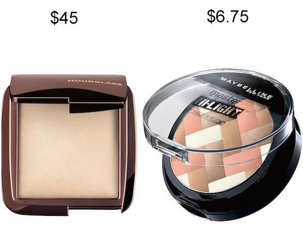 Maybelline Master Hi-Light Studio Bronzer in place of Hourglass Ambient Lighting Powder.
