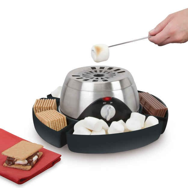 Indoor flame less marshmallow grilling station. Available at hammacher.com for 69.95