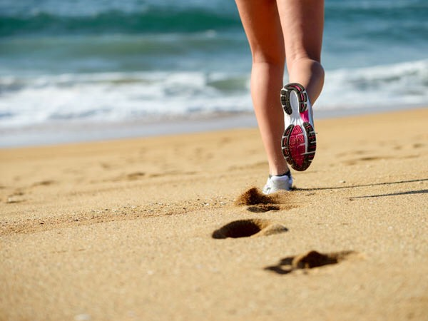 12. Head for the beach: If you live in the middle of the dessert this may not seem like the best idea, but it's not the beach you need, but rather, the sand. That's right. Running in sand is hard—really hard—and it will torch some serious calories while you try to get through it.