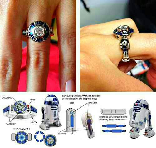 Ya like Star Wars? Well, have fun with this R2-D2 styled ring & box and may The Force be with you!
