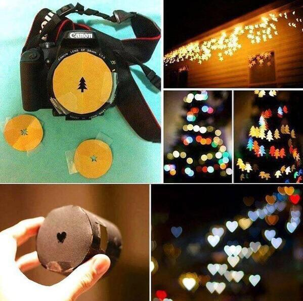 Make lens of your own choice to get that bokeh effect.