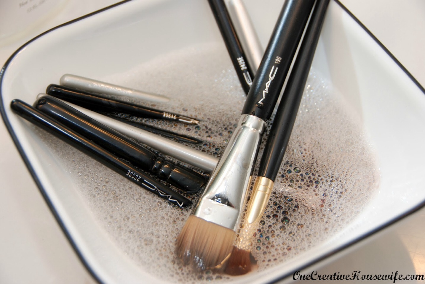 Remember, clean brushes to fight against potential bacteria and breakouts!