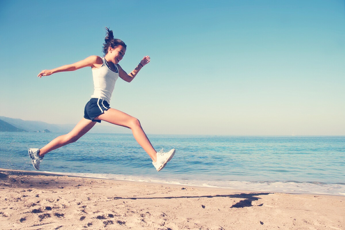 Start off by being active at least 30 minutes a day. Whether it's walking, running, swimming, etc.