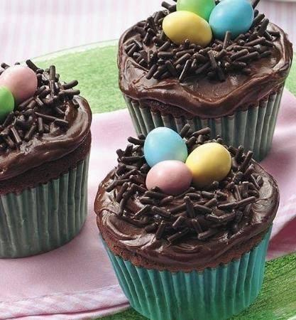 Make a nest out of chocolate sprinkles and use mini eggs to complete the look.