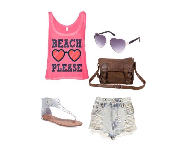 Shirt - etsy.com  Shorts - boohoo.com  Shoes - wetseal.com  Bag - thegrandsocial.com.au  Sunglasses - Charlotterusse.com