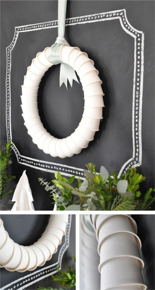 a minimalistic wreath