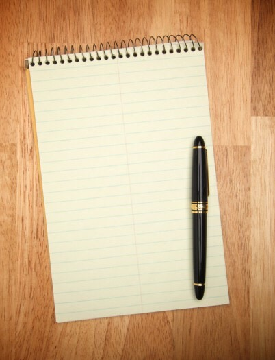 Pen and paper if you ever need it.