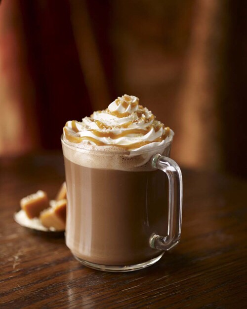 You will need Caramel sauce Sea salt Squirty cream Marshmallows (optional) Hot chocolate of your preference Cute mug to put it in