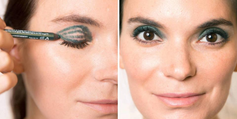 If you don't have any shadow on hand or have a bunch of colored liners you have no idea what to do with, fret not. With these easy tricks, you can get the look of shadow using just liner. Makeup artist Gigi Shaker shows you how.