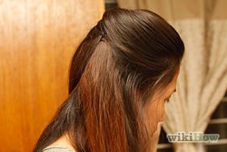 Style hair as desired