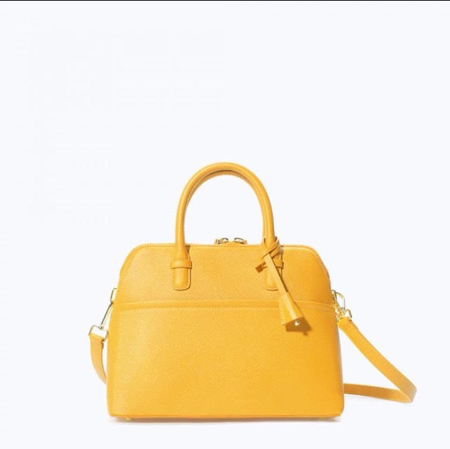 Zara Mini City Bag Yellow