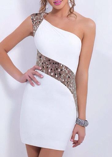$16.27 http://m.rotita.com/sleeveless-one-shoulder-sequin-embellished-bodycon-dress-g128999.html