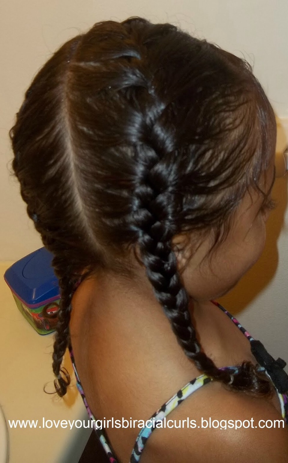 Just do 4 french braids two on either side of your head & two in the back.  When hair is damp. Leave in over night.