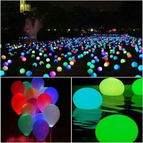 If you throw a pool party juring the summer at the evening when It gets dark u can put glowsticks inside balloons and place the on the water and you will have a beautiful pool party scene💦👙💗