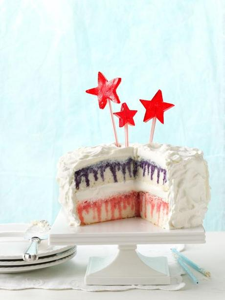 Follow this recipe for red, white, and blueberry poke cake!