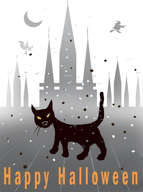 Black Cat Invite You can get your paws on this adorable black cat invite over at Got Free Cards.