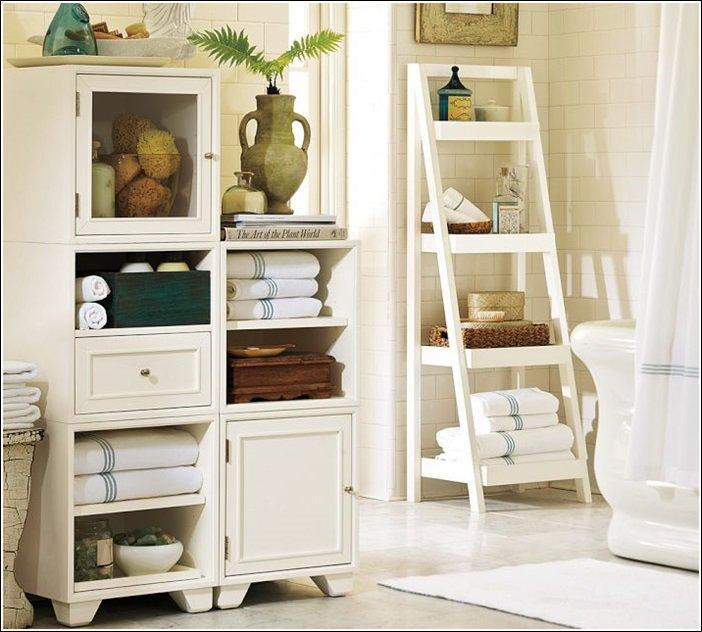 Ladders are great for multi-layer storage – not to mention it looks cool too!