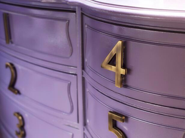 In an Hour: Add House Number Drawer Pulls Give your dresser a dose of street style by replacing run-of-the-mill drawer pulls with sleek, modern house numbers.